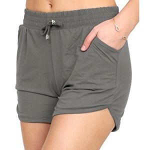 Pants - Charcoal Smooth Buttery Shorts